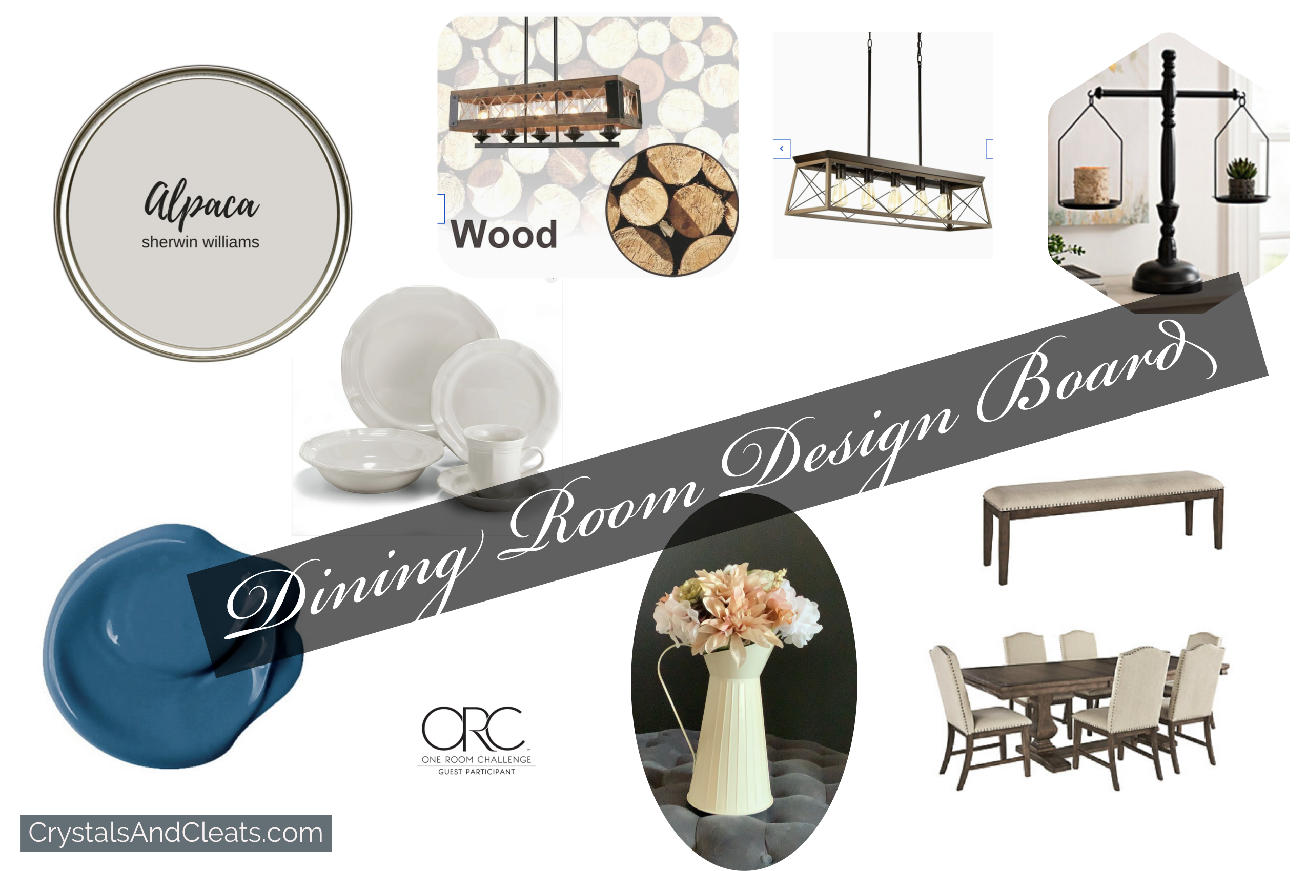 The farmhouse dining room design board