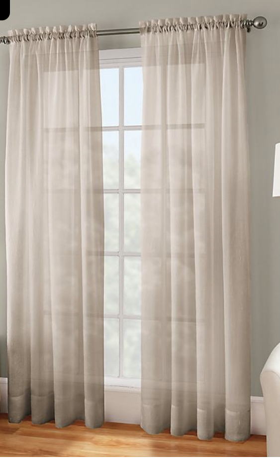 Window treatments, linen, sheers, dining room curtains