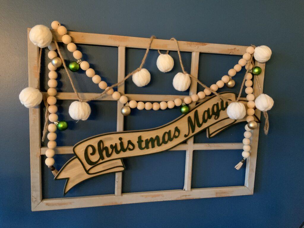 Rustic Christmas wall decor