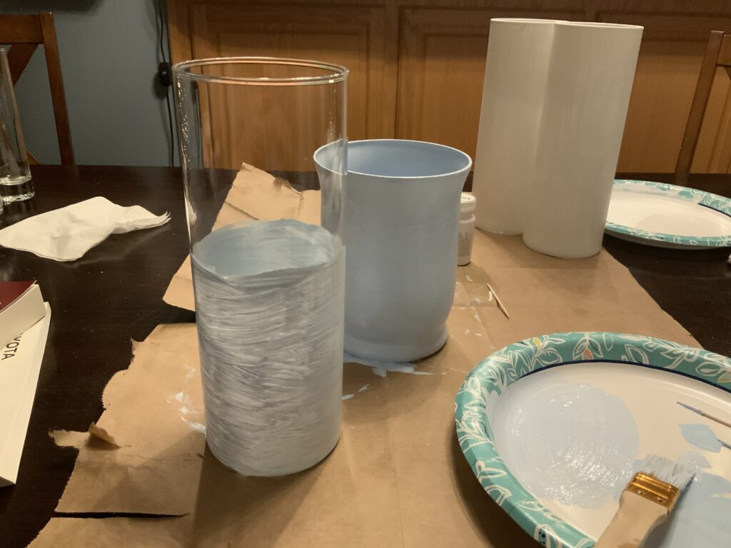 Glass vase to terra cotta look DIY