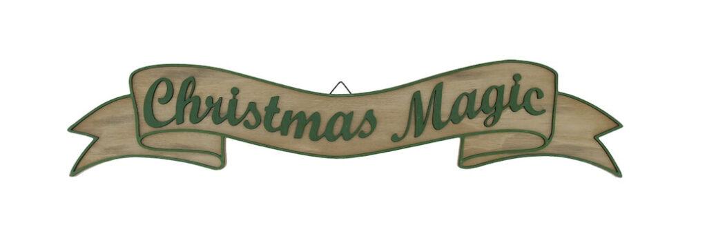 Christmas magic farmhouse sign