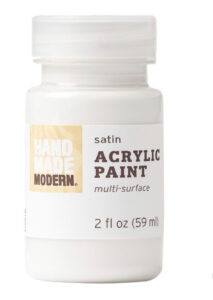 White acrylic paint diy
