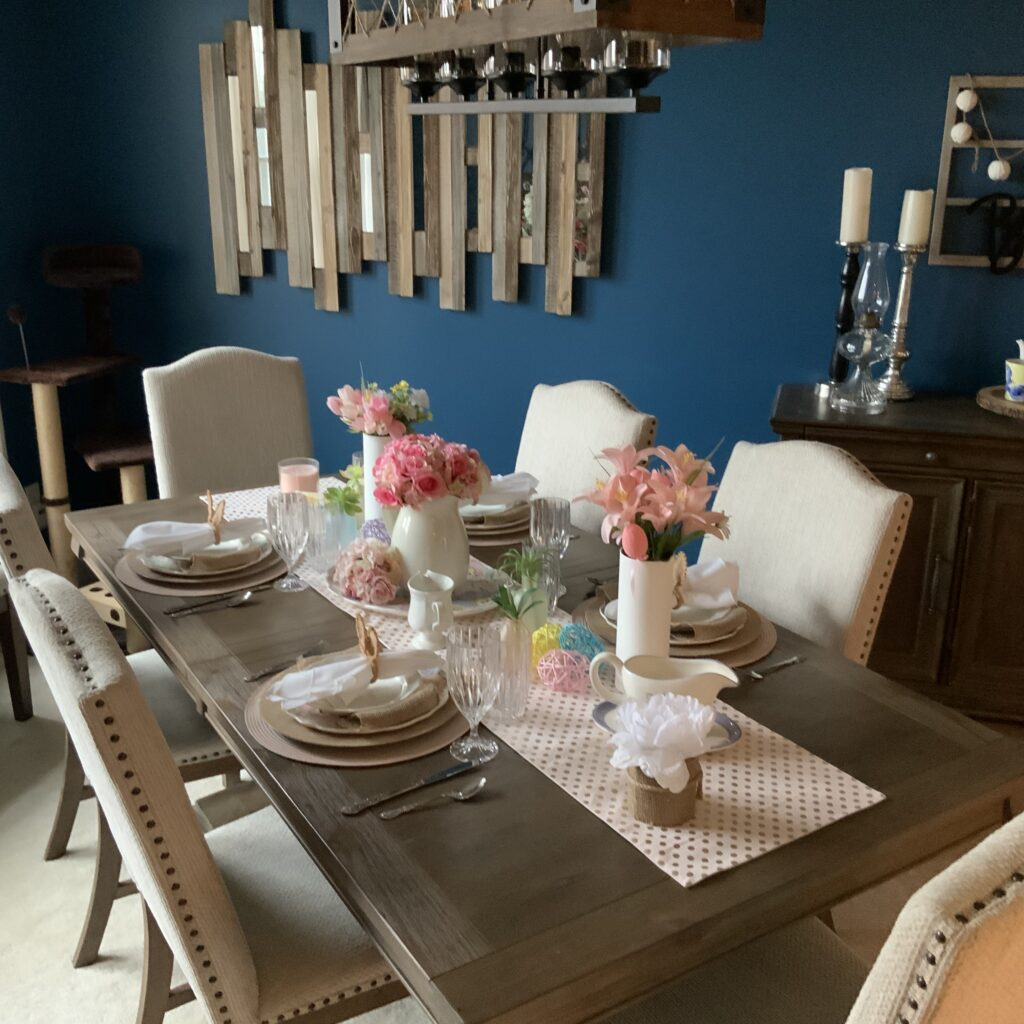 Easter tablescape spring tablescape