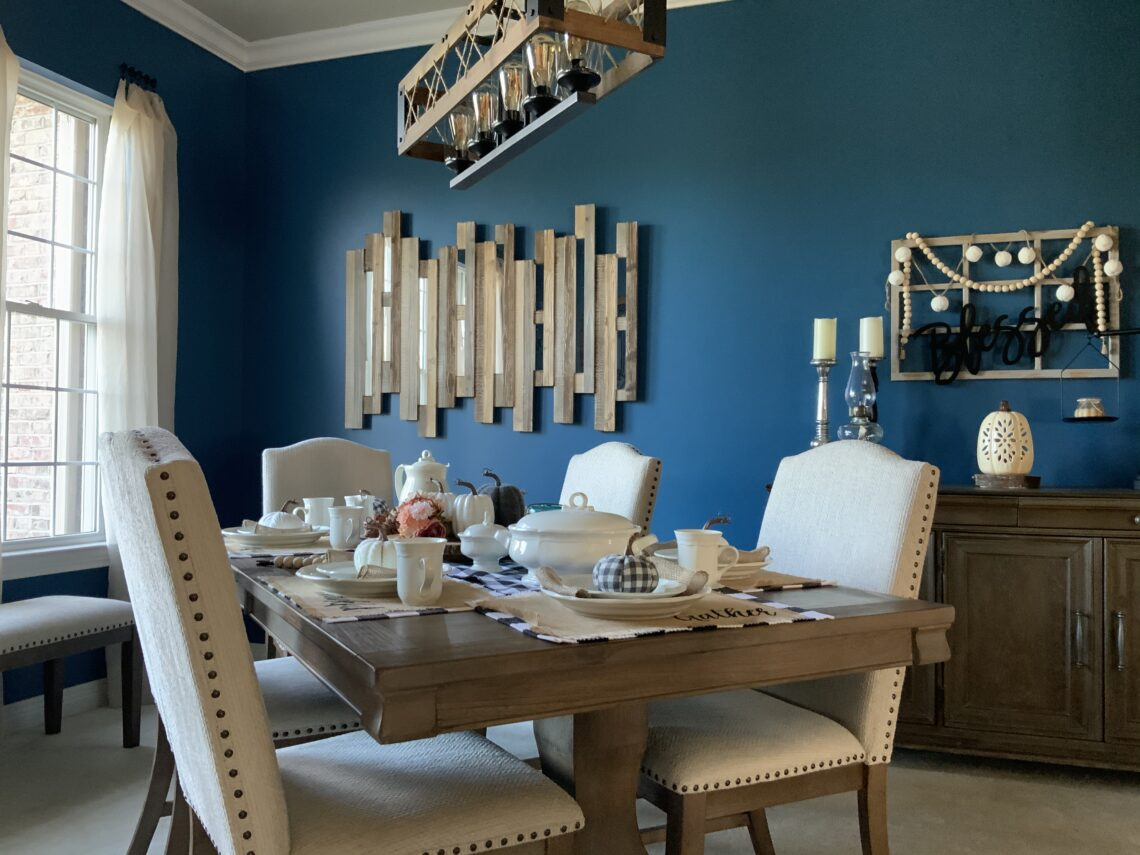 Dining room, one room challenge