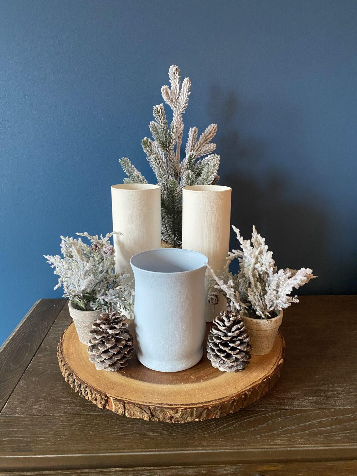 Terra cotta look vase DIY